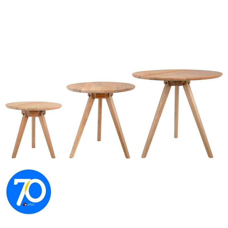 HOMY - Set de mesas para living 3 unidades