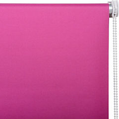 Cortina enrollable Black Out poliéster 120x165 cm fucsia