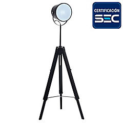 Lámpara de Pie Foco negro E27 60w