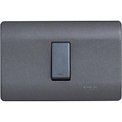 Interruptor 9/12 embutible con placa 16 A Humo