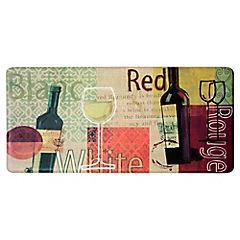 Limpiapiés de cocina Wine 50x104 cm