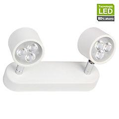 Foco LED sobrepuesto 2 luces 6 W