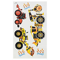 Sticker decorativo máquinas de trabajo 18 unidades