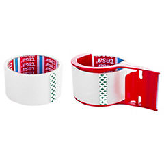 Kit de cintas adhesivas para embalaje + dispensador 3 piezas