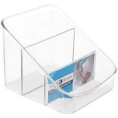 Organizador de cocina 19x15x12 cm 3 divisiones transparente