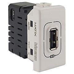Módulo cargador USB 750 mA Blanco