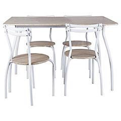 Comedor Reder 4 sillas 120 x 80 x 76 cm