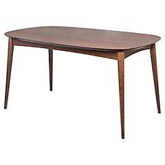 Mesa de comedor 76x90x150 cm nogal
