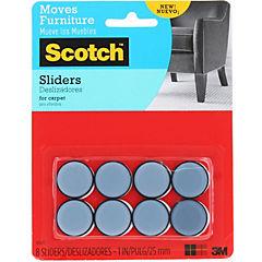 Deslizador adhesivo para alfombra 19 mm 8 unidades