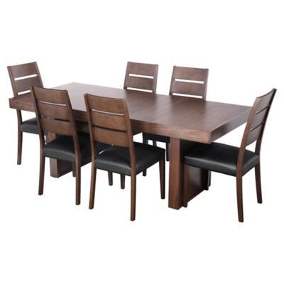 Juego de comedor akita 6 sillas pu for Sillas ergonomicas sodimac