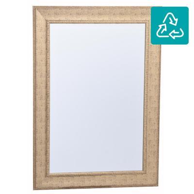 Espejo rectangular 108x78 cm dorado - Fijaciones para espejos ...