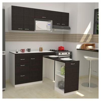 Combo mueble de cocina mesa mdp for Mueble cocina sodimac