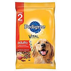 Alimento seco para perro adulto 21 kg carne, pollo y cereal