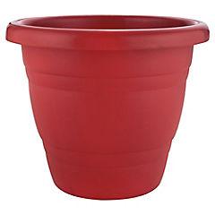 Macetero plástico 28 cm rojo