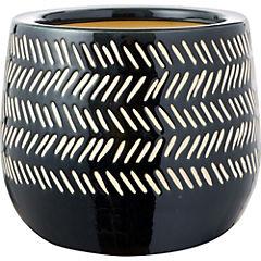 Macetero de cerámica 18x23x23 cm negro