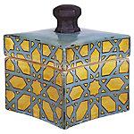 Caja cerámica puntas turquesa 21 cm