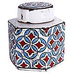 Jarrón cerámica blanco español 17 cm