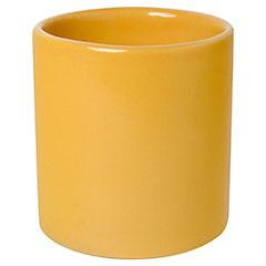 Macetero cactus de cerámica 9 cm amarillo