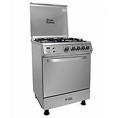 Cocina a gas 4 quemadores 68 litros silver