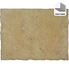 Palmeta piedra para muro 20x10 cm 0,48 m2 café