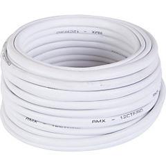 Cable telefónico 6 pares 24 AWG 10 m Blanco