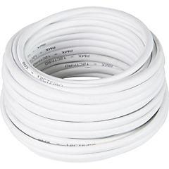 Cable telefónico 4 pares 24 AWG 10 m Blanco