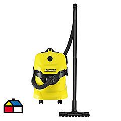 Aspiradora de tambor seco-mojado 1000 W amarillo