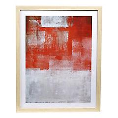 Cuadro abstracto rojo 40x50 cm