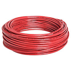 Cable eléctrico 14 AWG 0,6 kW 25 m Rojo