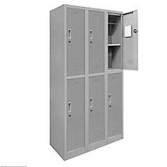 Locker de oficina acero 6 puertas con llave