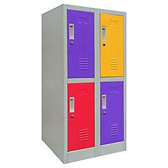 Locker de oficina acero 4 puertas con llave