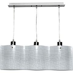 Lámpara de colgar Metal y vidrio Clasic Vetas 3L Niquel