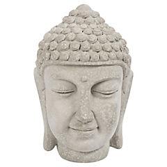 Buda decorativo 18,5x12,5x12,5 cm cemento gris