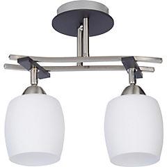 Lámpara de techo 2 luces 60 W