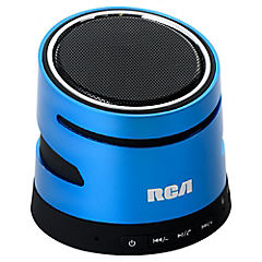 Parlante Bluetooth azul metal