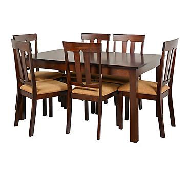 Juego de comedor 6 sillas café - Homy - 2882213