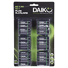 Pack 48 pilas alcalinas AA