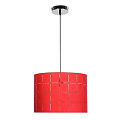 Lámpara colgante Consuelo 1 luz rojo