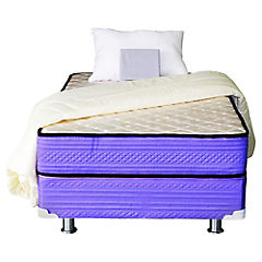 Box americano 1,5 plazas violeta + textil Dormiflex