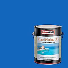 Pintura para piscina satinado 3,7 l Azul tahití