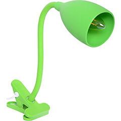 Lámpara pinza silicona E14 verde