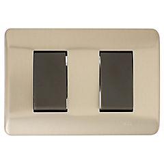 Interruptor doble 9/12 16 A Bronce