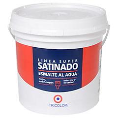 Esmalte al agua satinado 1 gl blanco