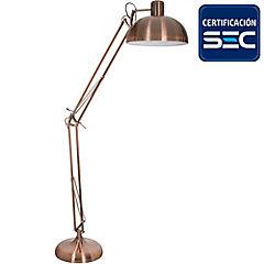 Lámpara de pie cobre E27 75 W