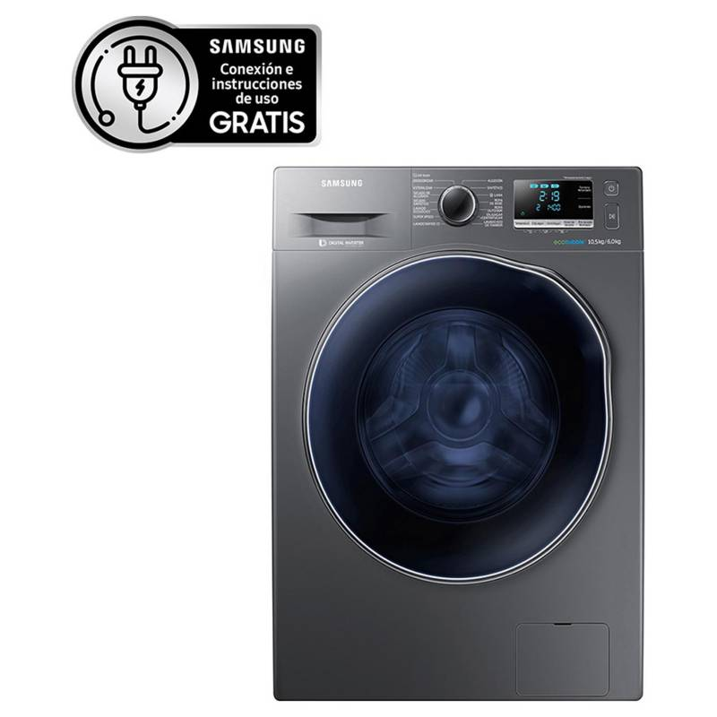 SAMSUNG - Lavadora secadora WD10J6410AX 10,5/6 kg gris