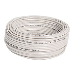 Cable eléctrico 12 AWG 0,6 kW 25 m Blanco