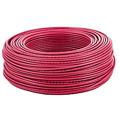 Cable eléctrico 12 AWG 0,6 kW 100 m Rojo
