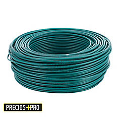 Cable eléctrico (Thhn) 12 Awg 100 m Verde