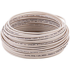 Cable eléctrico 14 AWG 0,6 kW 25 m Blanco