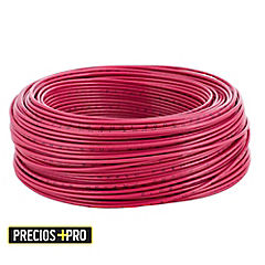 Cable eléctrico 14 AWG 0,6 kW 100 m Rojo